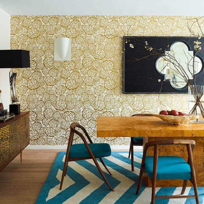 wallpaer inerior design 16 - انواع كاغذ ديواری در دكوراسيون داخلی
