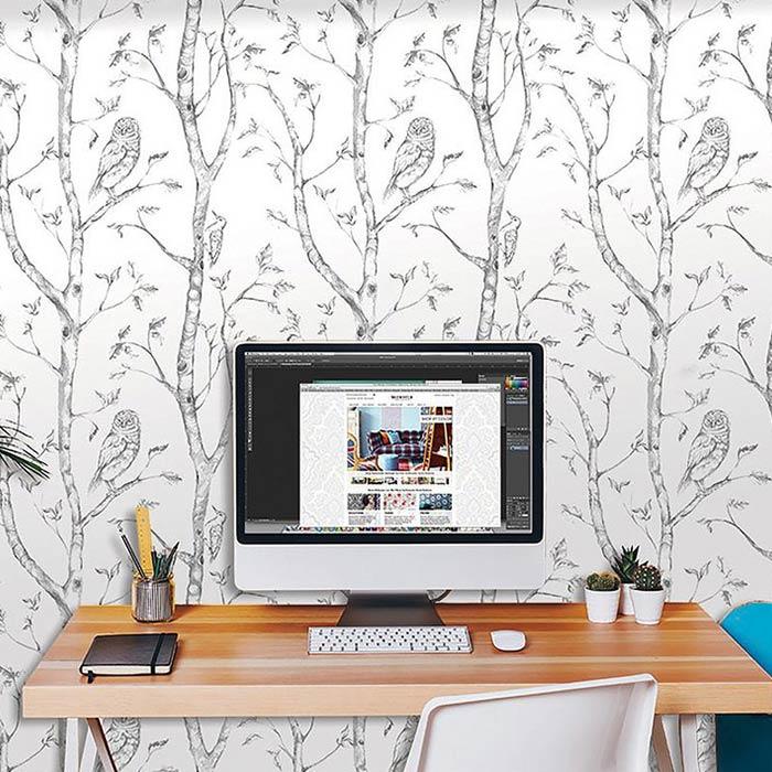 wallpaer inerior design 18 - انواع كاغذ ديواری در دكوراسيون داخلی