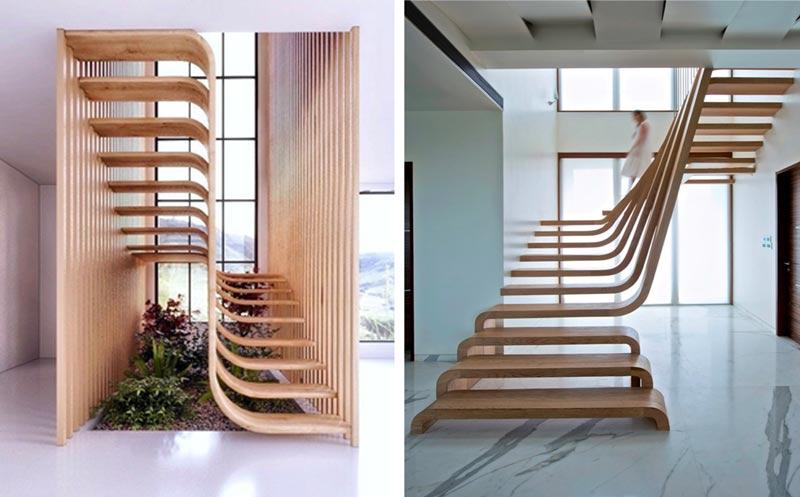 4t - انواع طراحی راه پله در دکوراسیون داخلی