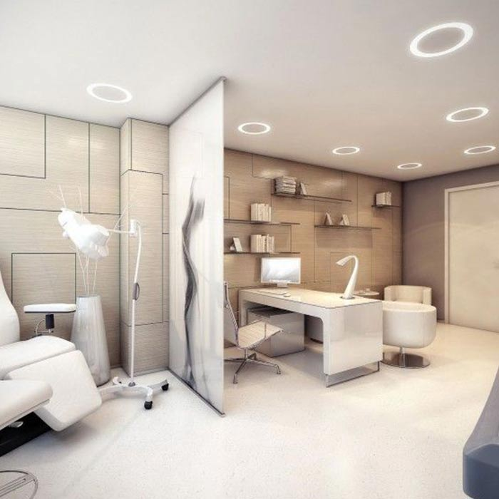 clinic interior design 6 - دکوراسیون مراکز زیبایی و درمانی