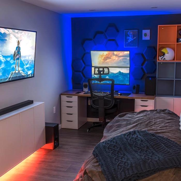 ترکیب اتاق خواب و گیم روم