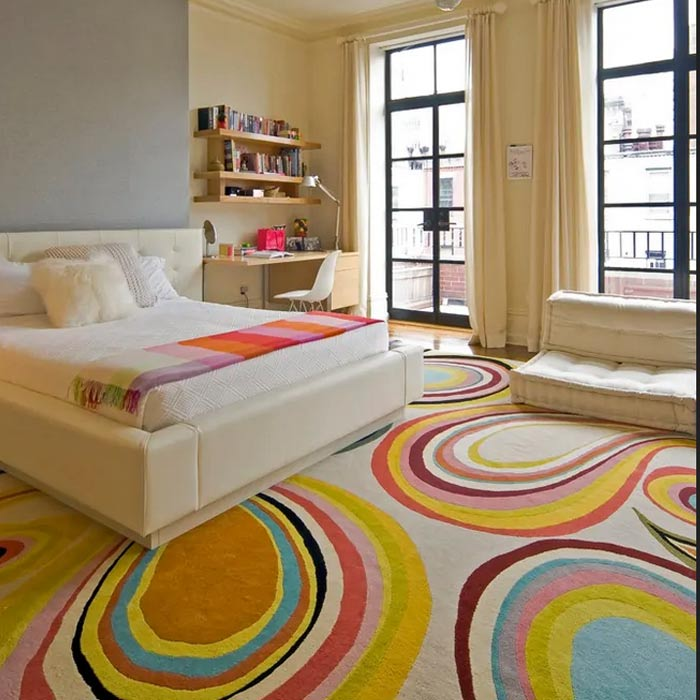 فرش مینیمال دکوراسیون اتاق دخترانه