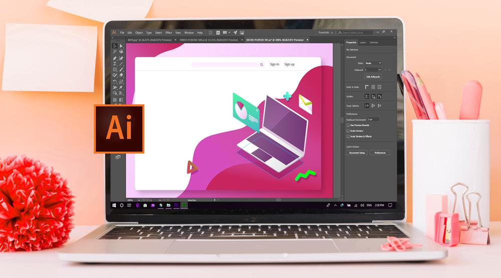 illustrator design class 1 - آموزش ایلاستریتور | illustrator