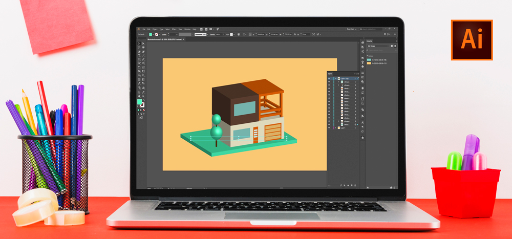 illustrator design class 4 - آموزش ایلاستریتور | illustrator