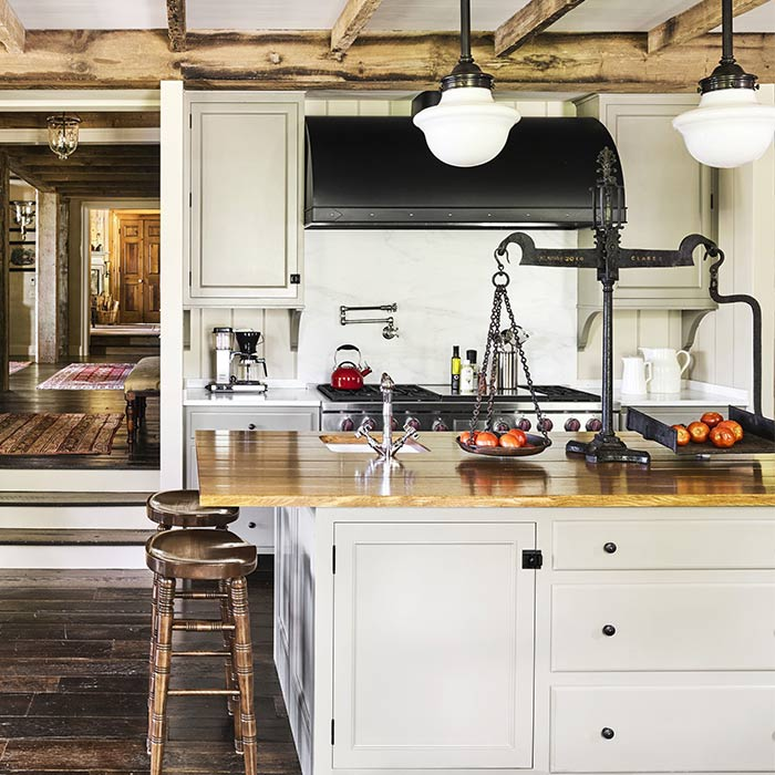 مبلمان و میز ناهار خوری آشپزخانه به سبک روستیک