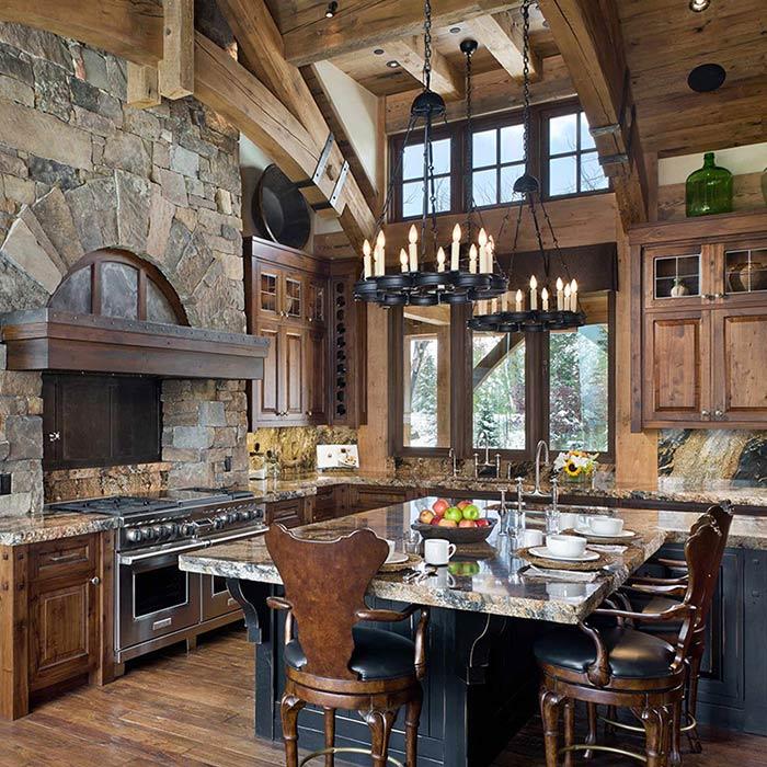 رنگ های روستیک در طراحی آشپزخانه
