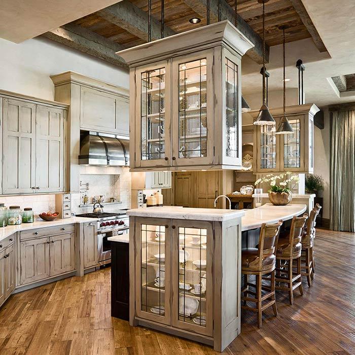 سینک ظرفشویی در آشپزخانه به سبک روستیک
