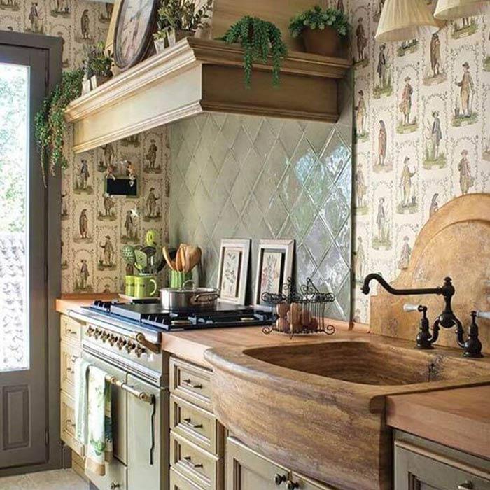 روشنایی در آشپزخانه ها به سبک روستیک