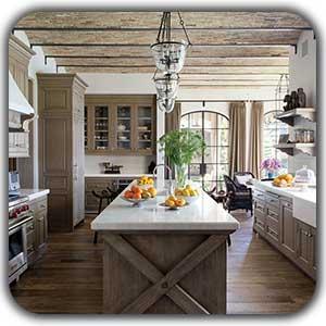 طراحی دکوراسیون آشپزخانه به سبک روستیک