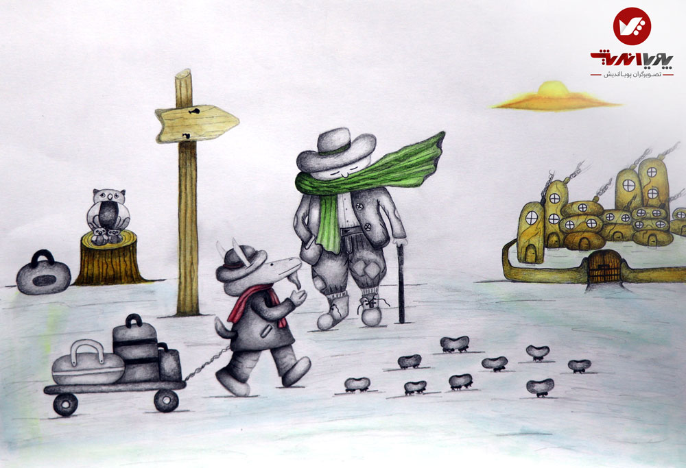 tasvirsazi 9 illustrator tasvirsazi mosahebe pouyaandish naghashi art 1 4 - تصویرسازی