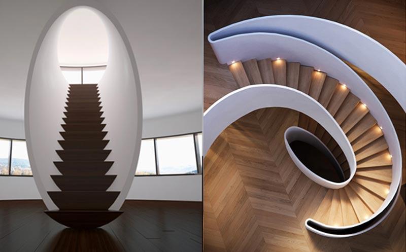 y9 - انواع طراحی راه پله در دکوراسیون داخلی