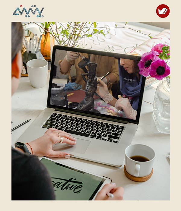 patina pouyaandish online class 14 - آموزش آنلاین و مجازی پتینه   دوره غیرحضوری و از راه دور پتینه و رنگ