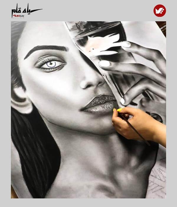 siyah ghalam pouyaandish online class 4 - آموزش آنلاین و مجازی نقاشی سیاه قلم