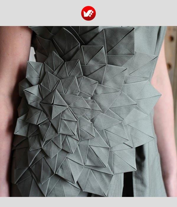fashion designs inspired by origami 1 - اوریگامی در طراحی پوشاک