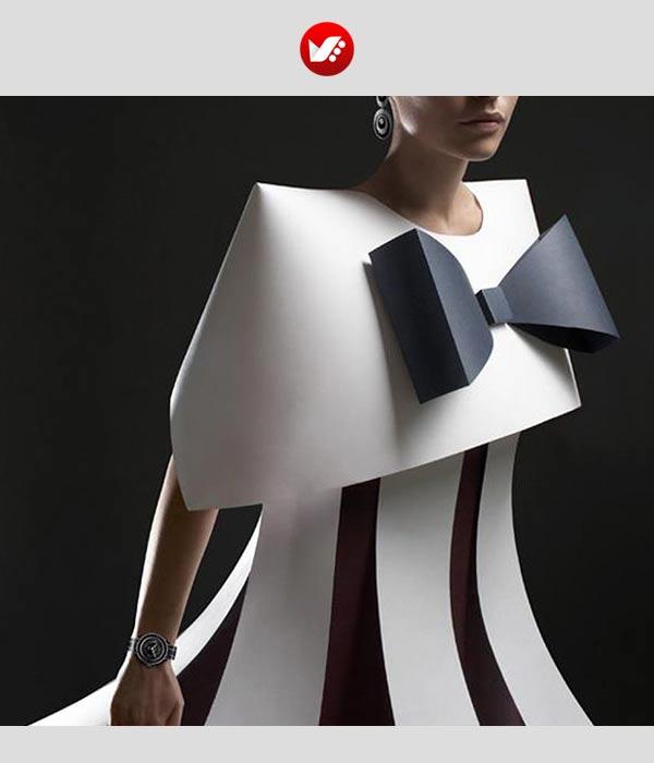 fashion designs inspired by origami 2 - اوریگامی در طراحی پوشاک