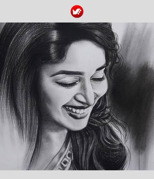naghashi ba zoghal 04 - نقاشی واقع گرایانه با ذغال
