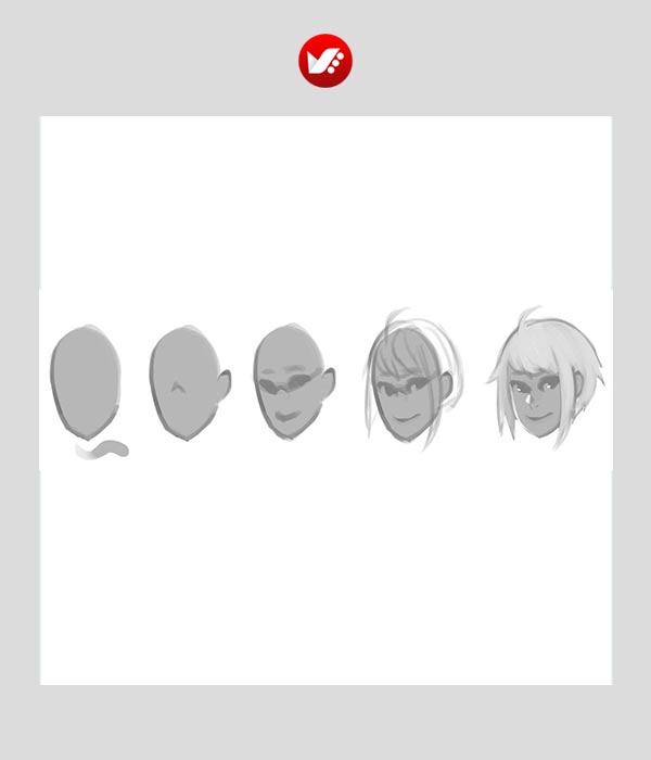 طراحی چهره های مانگا