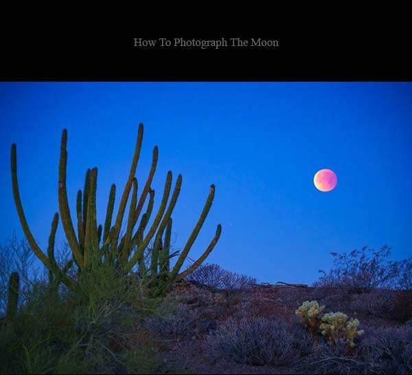 چگونه ار ماه عکس بگیریم