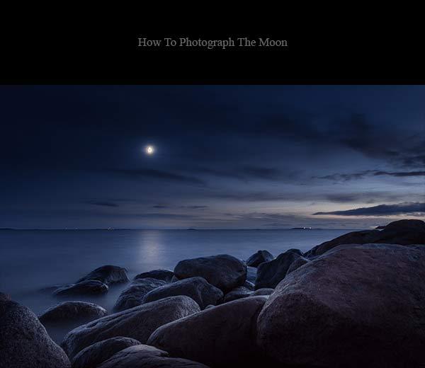 نور ماه در دریا